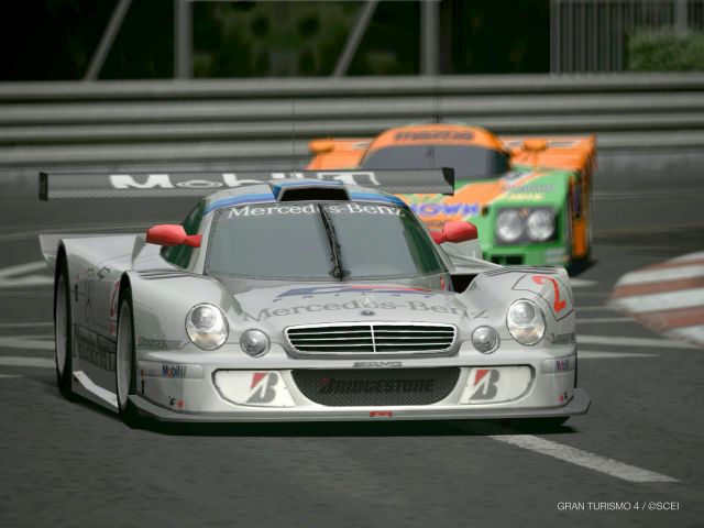 Mercedes-Benz CLK AMG Mercedes CLK-GTR Race Car